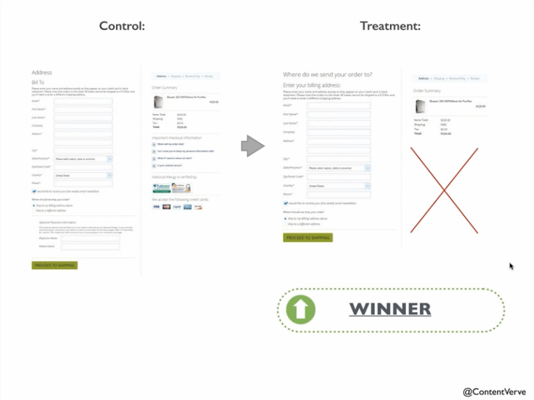 Removing Site seals increases conversion rate