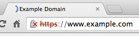 Chrome 42 displaying an SHA1 certificate